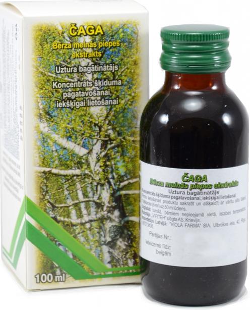 Čaga - extrakt z brezovej huby 100 ml