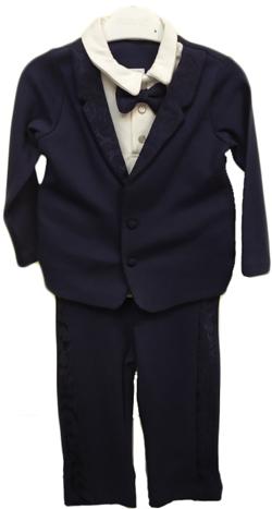 Mymio baby  chlapčenský oblek + nohavice tmavomodrý