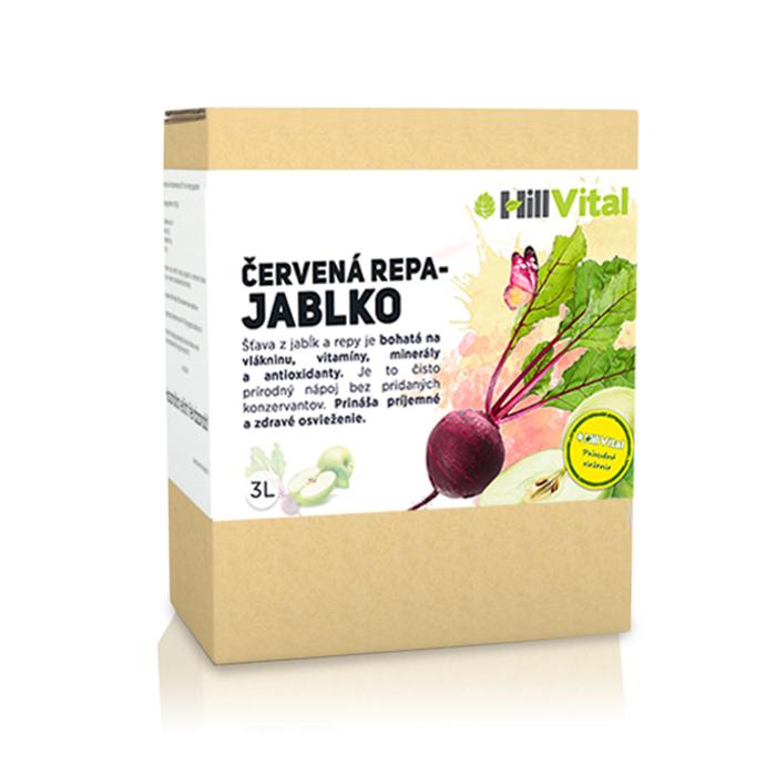 HillVital - Repa a jablko - prírodná šťava, 3l