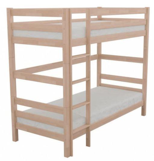 Poschodová posteľ, masívne bukové drevo