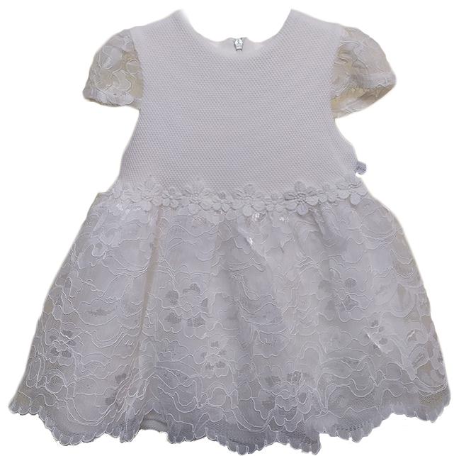 Mymio detské šaty biele