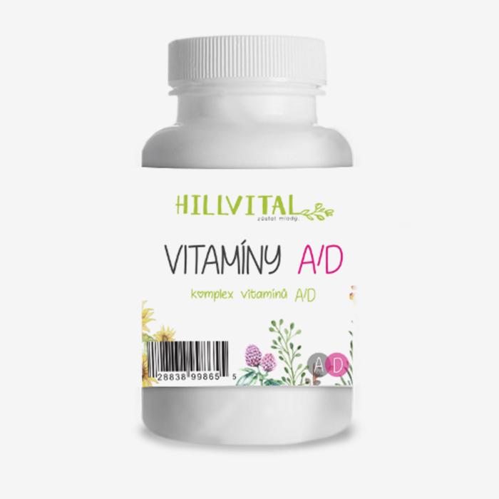HillVital - Vitamín A+D pre zdravú pokožku (nechty a vlasy), 60 ks