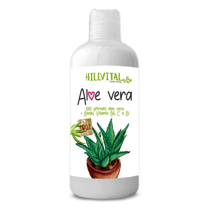 HillVital - Aloe Vera - 100 % šťava, 1000 ml