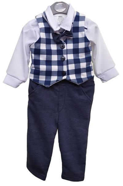 Arex detský károvaný oblek s nohavicami veľ. 68