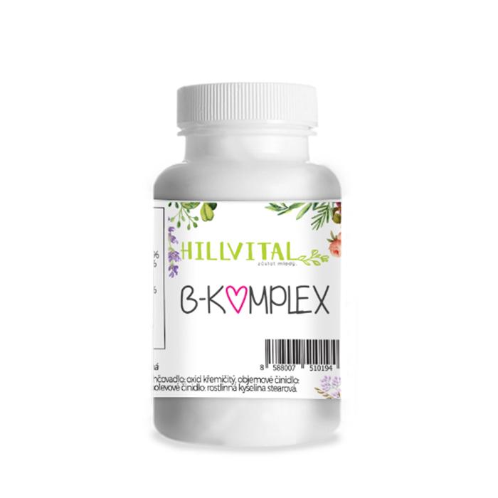 HillVital - Multivitamín B-komplex, 100 kapsúl