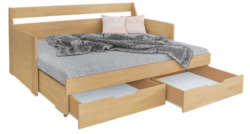 Otela posteľ, masívne bukové drevo